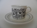 Krokus Coffee Cup and Saucer blackwhite SOLD OUT