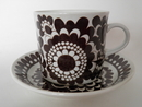Arabia 100 Years Cup and Saucer brown SOLD OUT