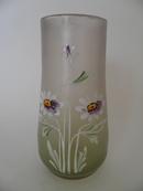 Vase handpainted Daisies