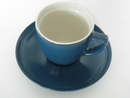 Olive Coffee cup and Saucer blue