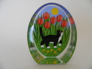 Cat and Tulips Glass Card Iittala