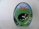Glass Card Cat and Butterfly Iittala