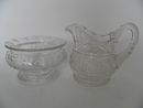Creamer and Sugar Bowl clear glass Riihimäen lasi SOLD OUT
