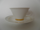 Harlekin Gold Teacup and Saucer Arabia