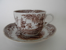 Singapore Teacup and Saucer brown Arabia