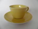 Maija -kahvikuppi ja aluslautanen keltainen Arabia MYYTY