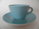 Maija Coffee Cup and Saucer turquoise  Arabia SOLD OUT