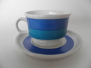 Coffee Cup and Saucer small blue Arabia
