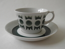 Salla Coffee Cup and Saucer green Arabia SOLD OUT