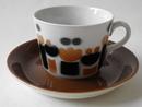 Laila kahvikuppi ja aluslautanen Arabia MYYTY