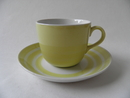 Coffee Cup and Saucer Yellow Circle Arabia