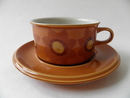 Tea CUp and Saucer lightbrown Arabia