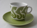 Coffee Cup and Saucer lime Arabia SOLD OUT