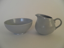 Sointu Creamer and Sugar Bowl blue Arabia