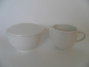 Domino Sugar Bowl and Creamer Arabia