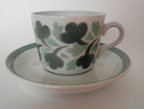 Coffee Cup and Saucer green leaves Arabia