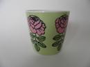 Vihkiruusu -muki vihreä-vaaleanpunainen Marimekko