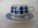 Motti Tea Cup and Saucer turquoise Arabia