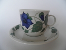 Tea for two Tea Cup and Saucer blue