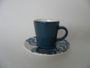 Espresso Coffee cup and Saucer turquise
