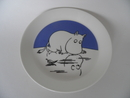 Moomin Plate Moomintroll on Ice 2-side