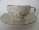 Rose Tea Cup and Saucer Pentik