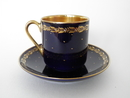 Mocha Coffee Cup and Saucer darkblue
