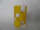Juomalasi Keltainen ruutu Marimekko