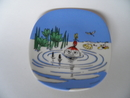 Moomin Wall Plate Little My Swims