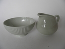 Sointu Sugar Bowl and Creamer green
