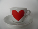 Heart Coffee Cup and Saucer Arabia