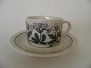 Flora kahvikuppi ja aluslautanen Arabia