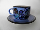 Tea Cup and Saucer blue Arabia