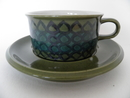 Tea Cup And Saucer green Hilkka-Liisa Ahola