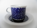 Faenza Coffee Cup and Sauzer blue Flowers SOLD