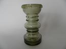 Carmen Vase/Candleholder green-grey Riihimäen lasi