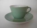Maija -kahvikuppi ja aluslautanen vaaleanvihreä