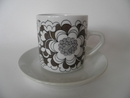 Gardenia Coffee Cup and Saucer brown SOLD OUT