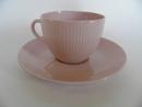 Sointu kahvikuppi ja aluslautanen roosa