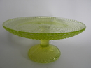 Grapponia Footed Serving Plate yellow