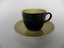 Paula Coffee Cup and Saucer black Arabia