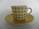 Pop Coffee Cup and Saucer yellow Arabia