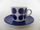 Coffee Cup and Saucer blue decoration Arabia