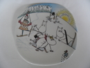 Moomin Wall Plate Ski Slope Arabia SOLD OUT