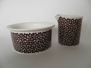 Faenza Sugar Bowl and Creamer brown Flowers Arabia SOLD OUT