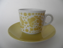 Rose yellow Coffee Cup and Saucer Arabia