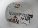 Moomin Wall Plate Moomin Jump Slope Arabia SOLD OUT