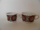 Sugar Bowl and Creamer retro Arabia