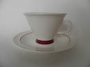 Harlekin Red Hat Coffee Cup and Saucer