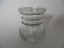 Carmen Vase/Candleholder clear glass small